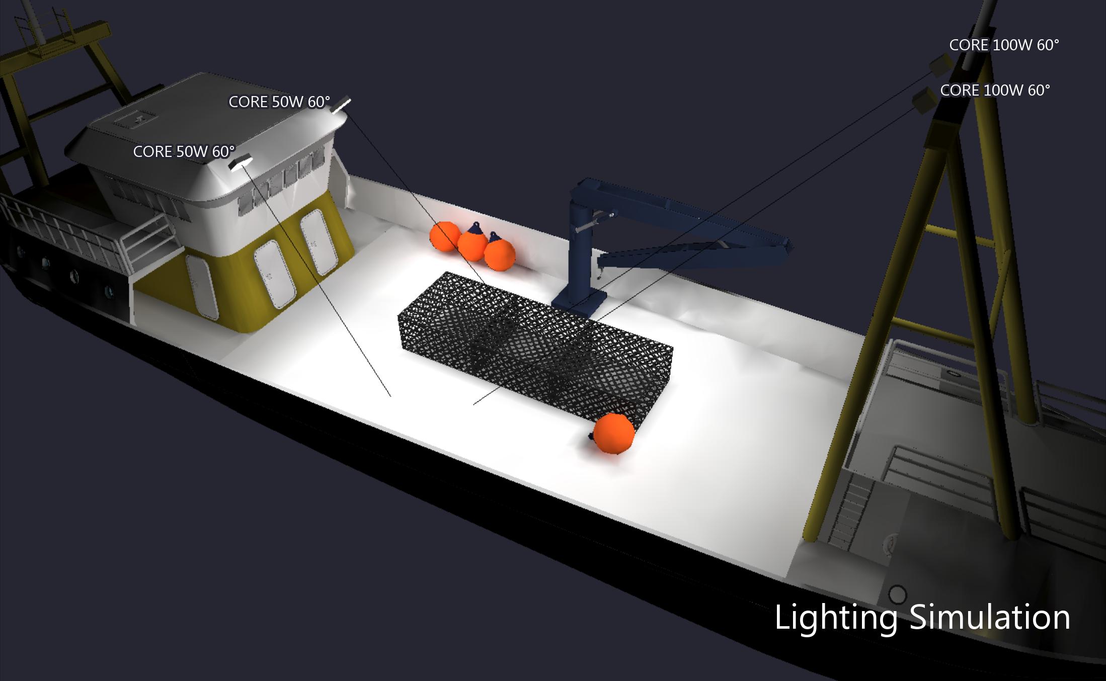 Lighting Simulation Rendering